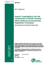 Assessment of Health Impacts report thumbnail